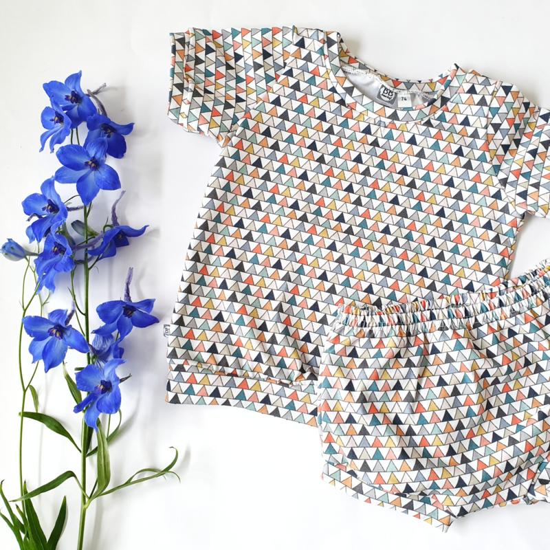 Shirt/sweater met boorden, korte/lange mouw