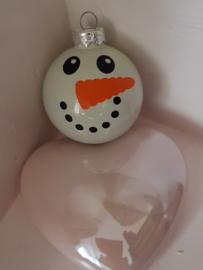 Kerstbal Sneeuwpop (met naam)