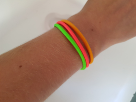 Armbandje 3 kleurig Neon
