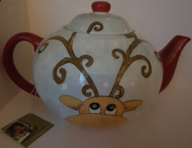 Mooie Kerst theepotten, van Jet by ter Steege
