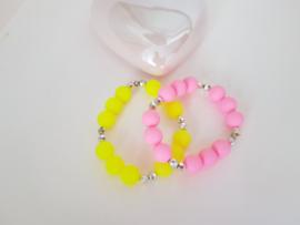 Vrolijk gekleurde bolletjes Armbandjes