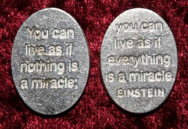 Spreuk muntje Miracle