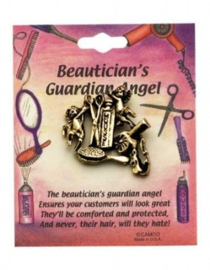 Opsteker beschermengel van de schoonheidsspecialist en kapper