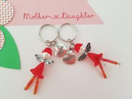 Sleutelhangers Mom Daughter