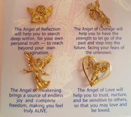 Kaart met 4 inspirerende Engelen