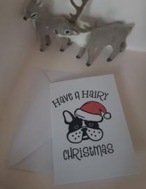 Kerstkaart Hairy Christmas