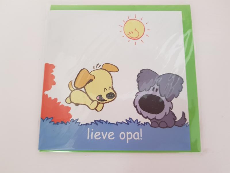 Woezel en Pip kaart Lieve opa!