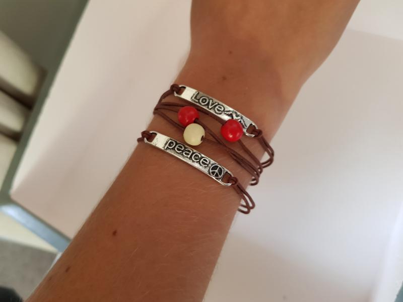 Bruine armbandjes keuze uit 3 soorten