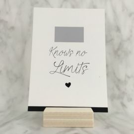 Kraskaart 'Love knows no limits'