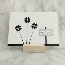 Kraskaart 'Good luck'