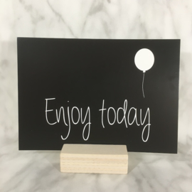 Postkaart 'Enjoy today'