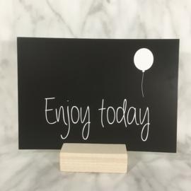 Postkaart 'Enjoy today'