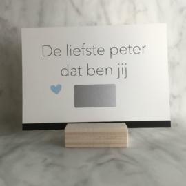 Kraskaart 'De liefste peter dat ben jij'