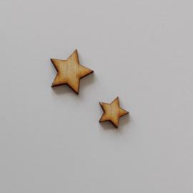 Houten ster (per 10 stuks)