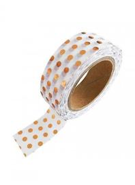 Washi-tape koperfolie bolletjes
