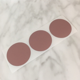 Krassticker cirkel rosé dia 38mm (per 3 stuks)
