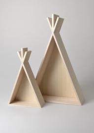 Set van 2 houten tipi's