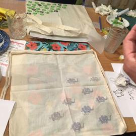 Stempelen op textiel