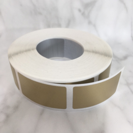 Krassticker goud rechthoekig - afm. 23x42mm  (10 stuks)