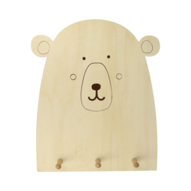 houten beren-kapstok
