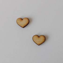 Houten hartje (per 10 stuks)