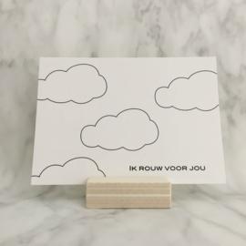 Rouwkaart  'Ik rouw voor jou'