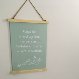 Poster A3: Oogjes toe ...