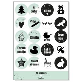 Stickervel 'mijn eerste jaar' (ronde stickers)