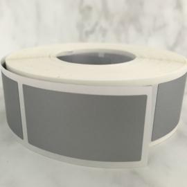 Krassticker zilver rechthoekig - afm. 23x42mm  (10 stuks)