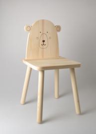 Houten kinderstoel beer