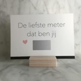 Kraskaart 'De liefste meter dat ben jij'