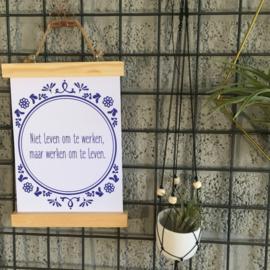 Spreuken om alles op te leuken 'Delfts blauw'