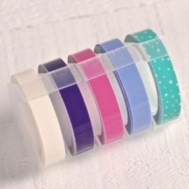 Tape - pastel - voor label maker / lettertang