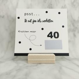 Kraskaart '40 is the new 20'
