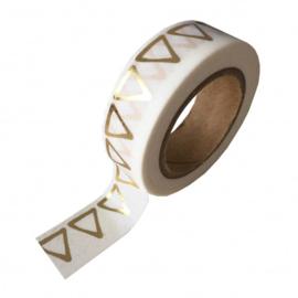 Washi-tape goudfolie driehoek