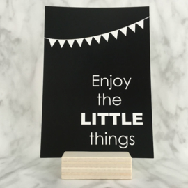Postkaart 'Enjoy the little things'