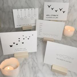 Pakket van 10 rouwkaarten