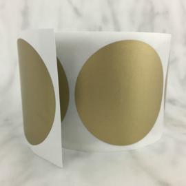 Krassticker goud dia 50mm (per 2 stuks)