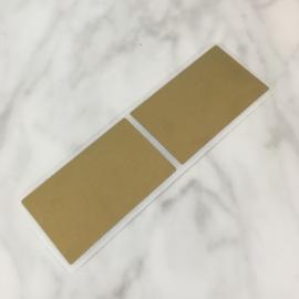 Krassticker rechthoek goud 58x35mm (per 4 stuks)