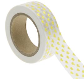 Washi-tape goudfolie hartjes