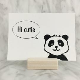 Postkaart 'Hi cutie'