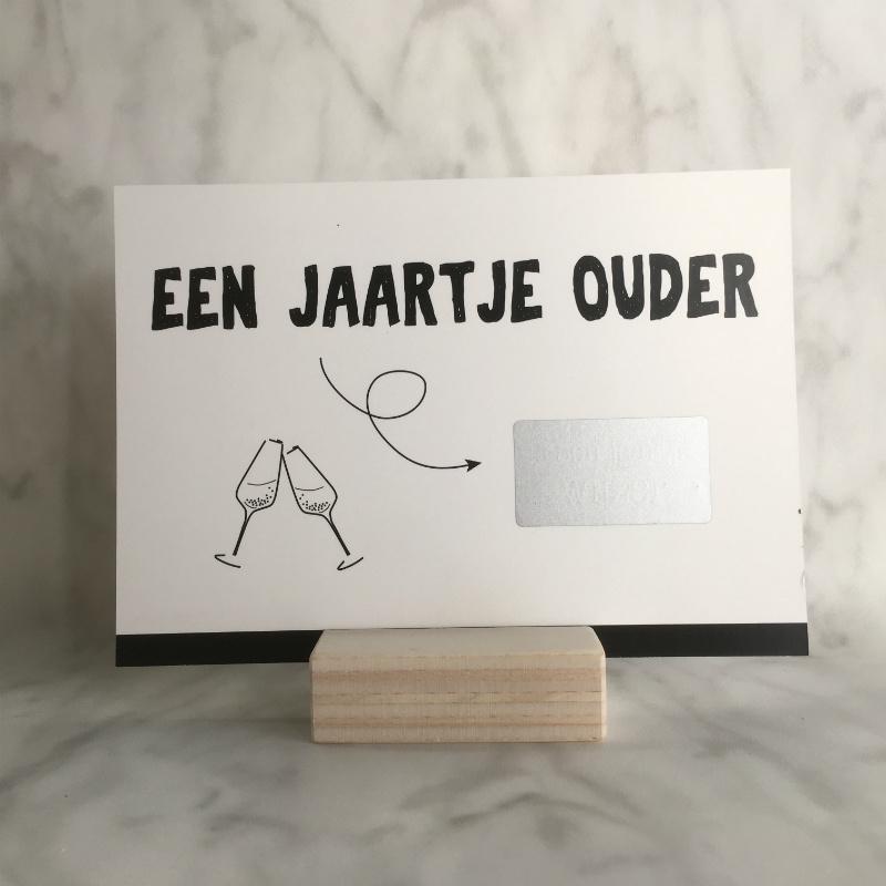 Kraskaart 'een jaartje ouder'