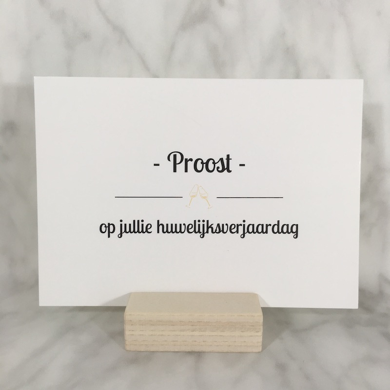 Postkaart 'proost'