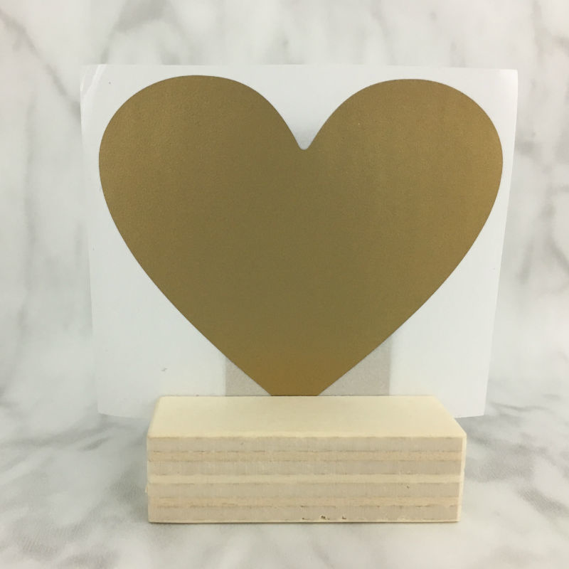 Krassticker gouden hartje 70x80mm