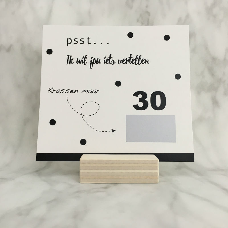 Kraskaart '30 is the new 20'