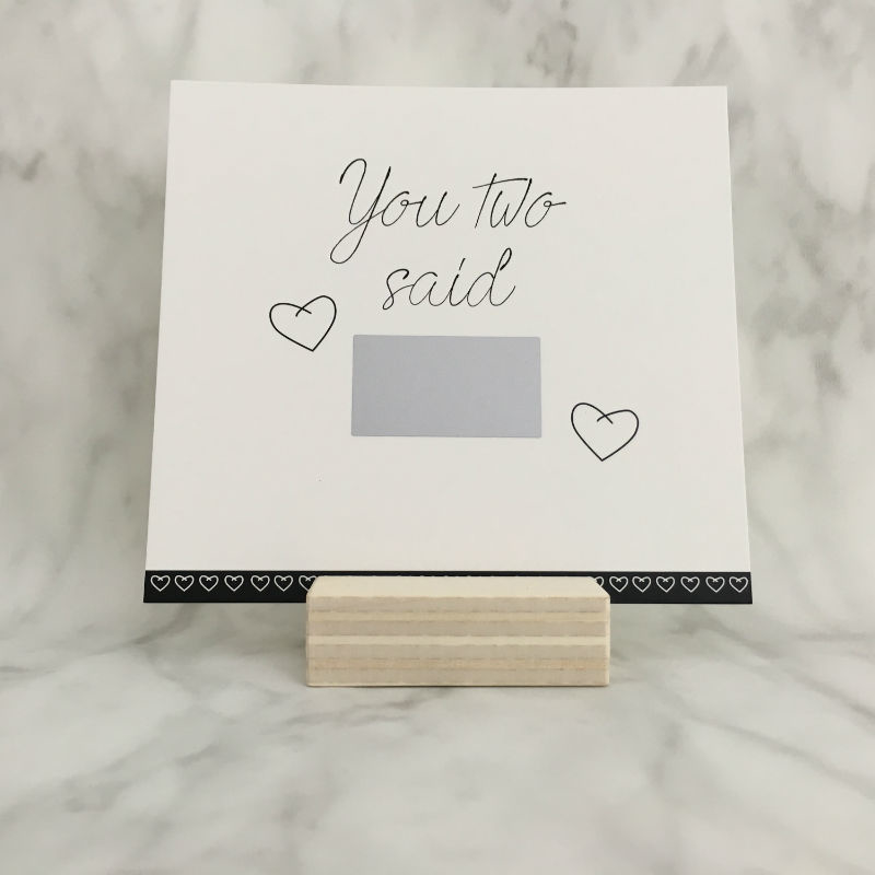 Kraskaart 'You two said YES'