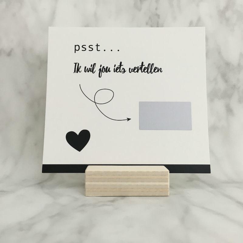 Kraskaart 'Ik zie u graag'