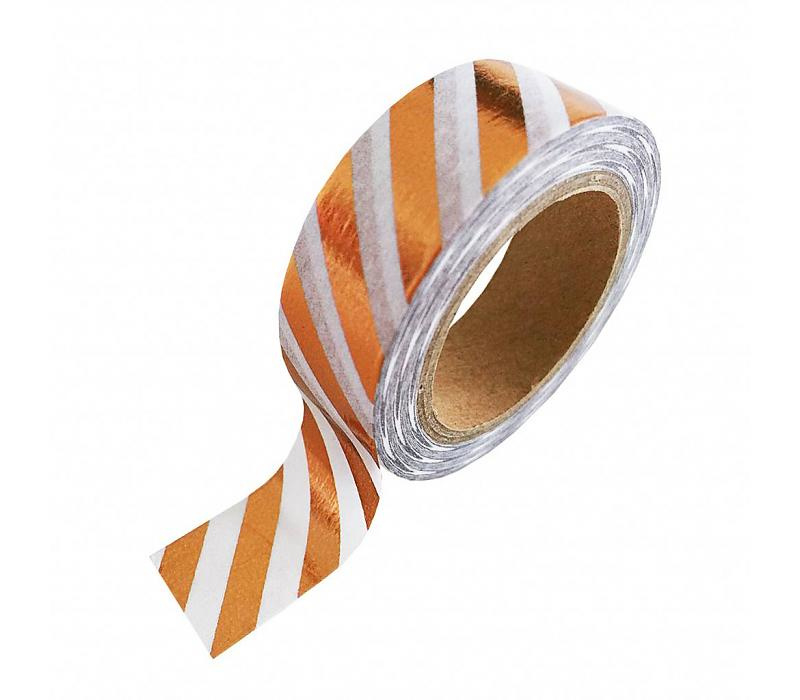 Washi-tape koperfolie strepen
