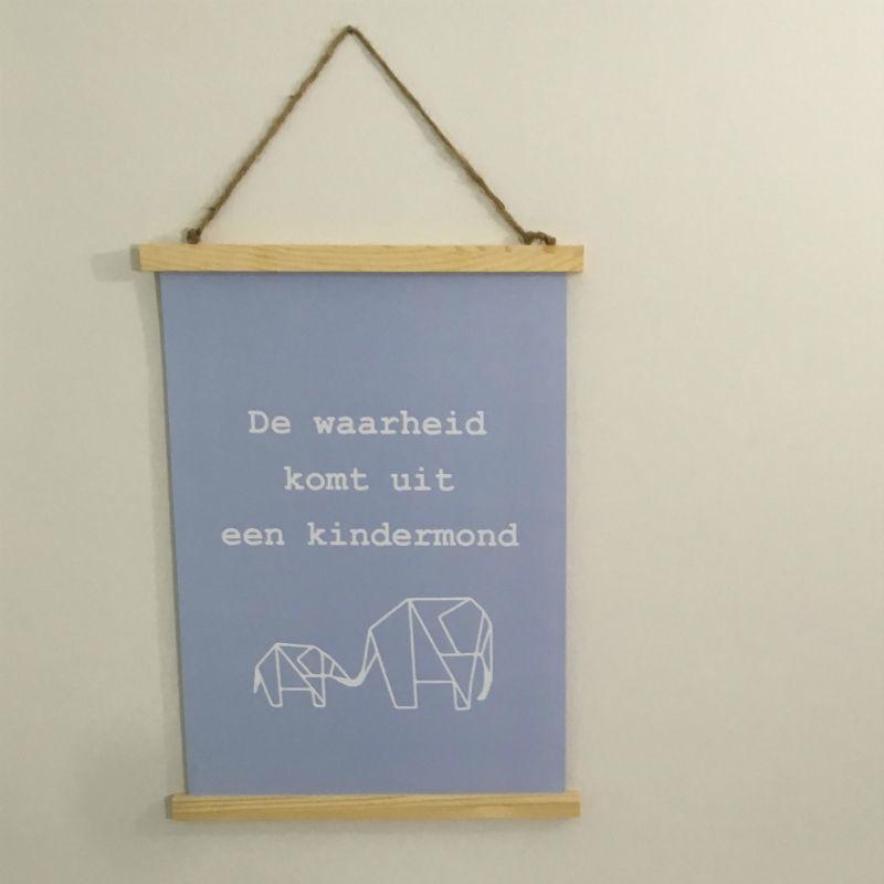 Poster A3: De waarheid komt uit een kindermond