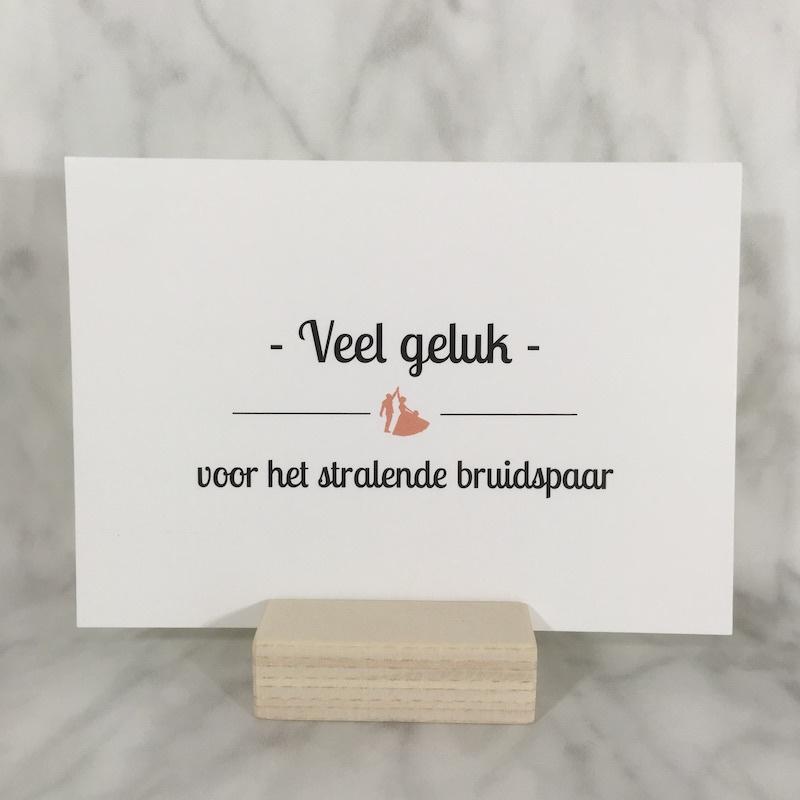 Postkaart 'veel geluk'